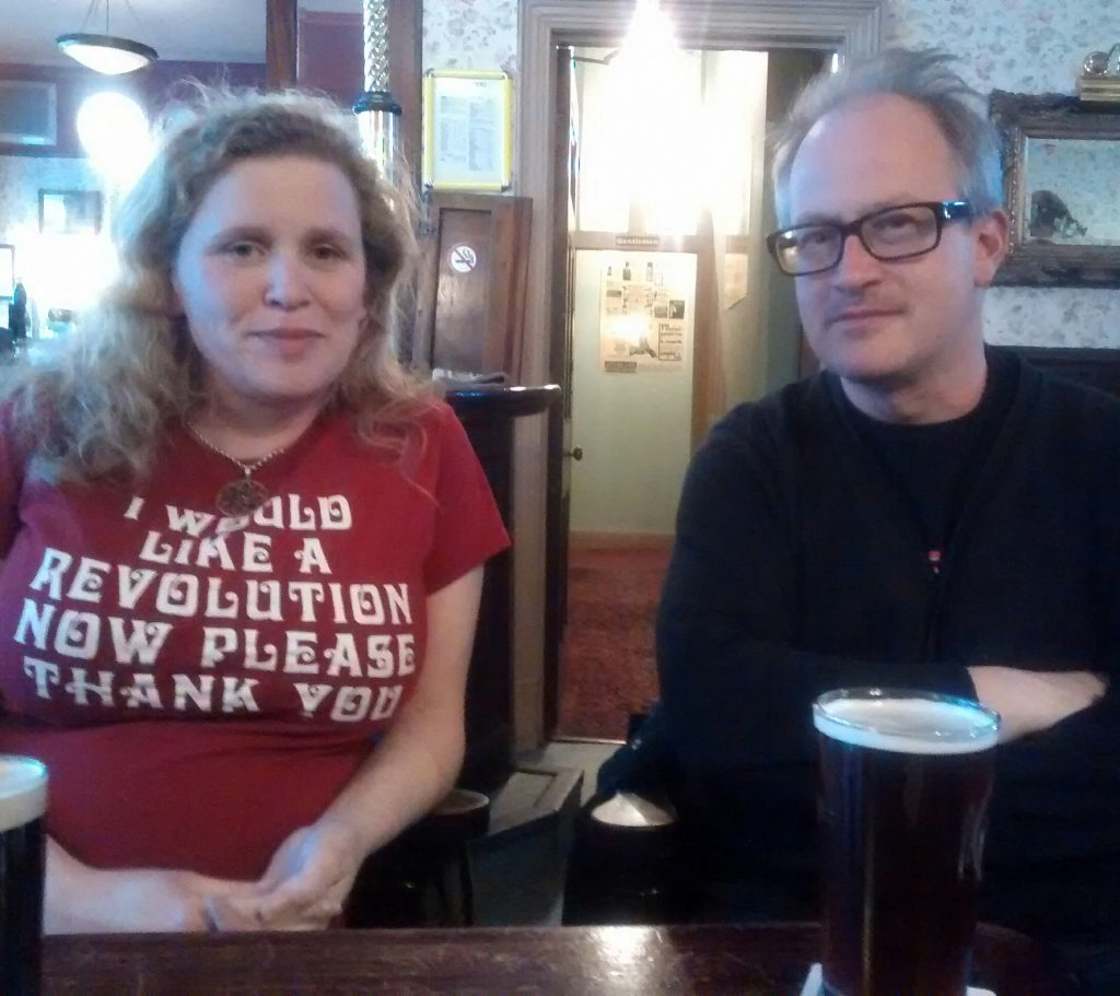 Robin Ince and Claire Sheppard